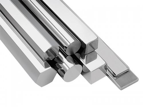 A barra de aço é encontrada em 4  formatos diferentes.