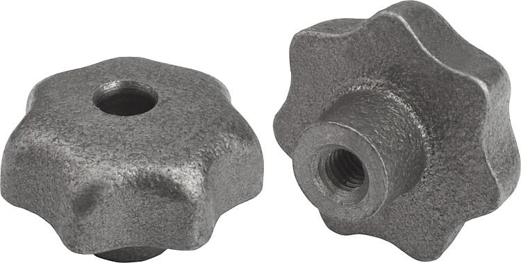 Peças feitas de ferro fundido cinzento.