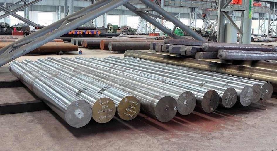 Barras grandes e redondas de aço 1045.