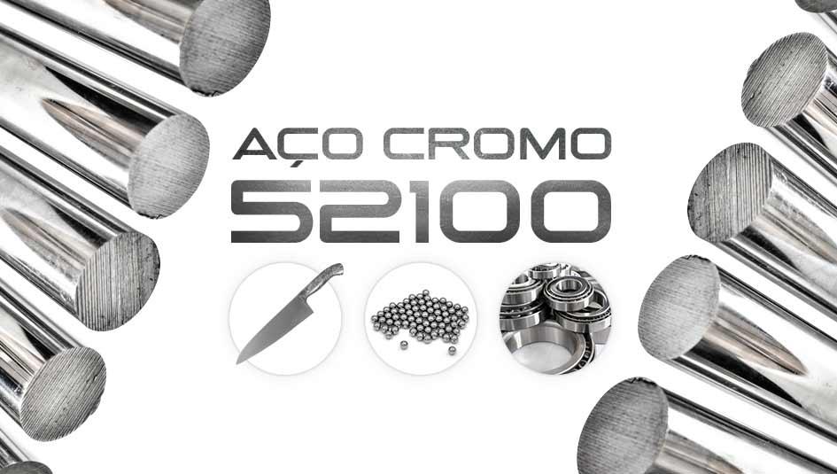Aço 52100 é um aço cromo de baixa liga utilizado na fabricação de componentes mecânicos e cutelaria.