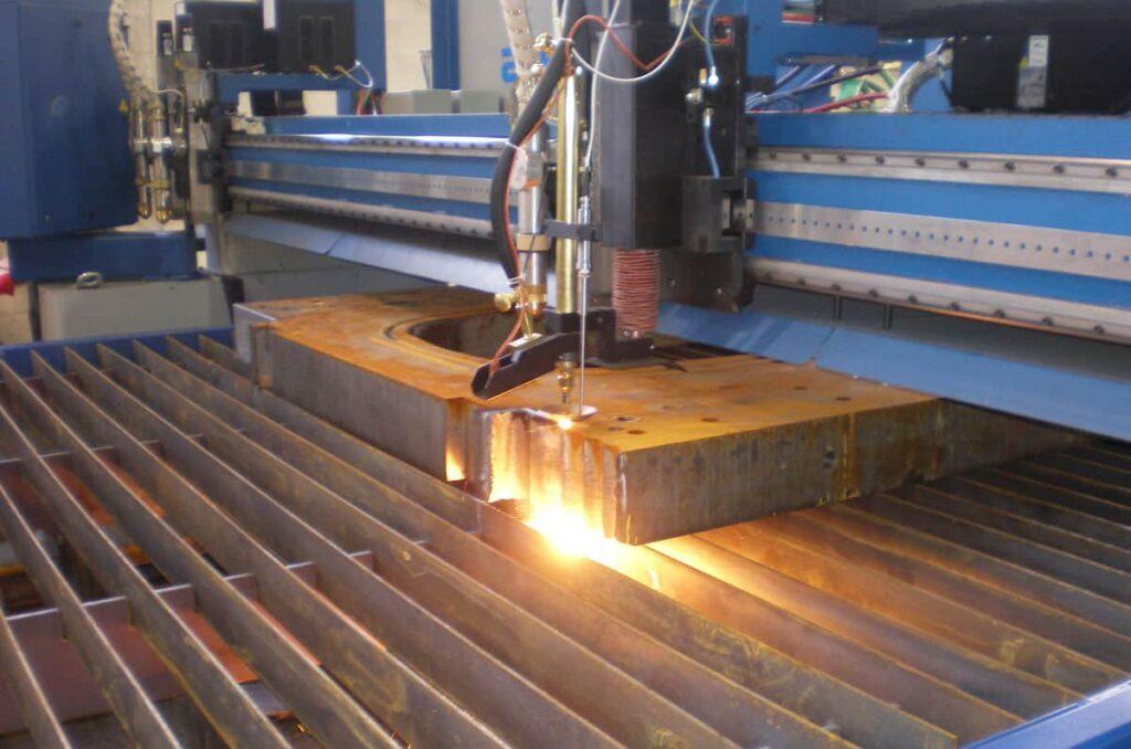 Máquina CNC de oxicorte.